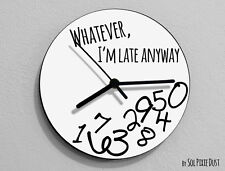 Whatever I'm Late Anyway / Round White - Wall Clock