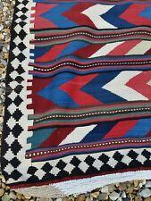 Large Handmade P.ersian kilim rug multicoloured wool Beautiful vintage kilim