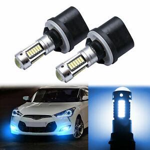 8000K LED Fog Light Bulbs Upgrade Kit For Hyundai Veloster 2012 13 14 15 16 2017