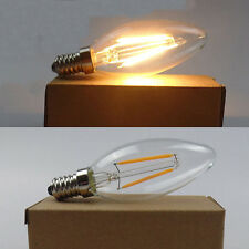 8 PACK E14 Small Screw Edison LED Filament Bulbs 2W Candle Candelabra Light Lamp