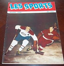 Les Sport October 1955 Maurice Richard / Gordie Howe Montreal Canadians