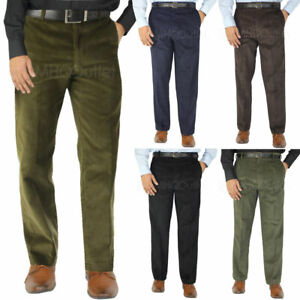 Mens Corduroy Trousers Formal Smart Casual Work Trousers Business Dress Pants