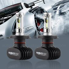 NIGHTEYE 8000LM H4 HB2 9003 LED Headlight Bulbs Dual Hi/Lo Beam Kit 6500K White