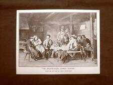 Il salotto Chamois Hunter Quadro di Franz Defregger Stampa del 1888