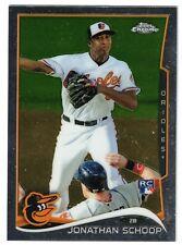 2014 Topps Chrome Rookie #33 JONATHAN SCHOOP Orioles/Tigers