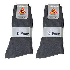 20 Paar Herren Arbeits Socken 92% BW anthrazit Gr 47/50