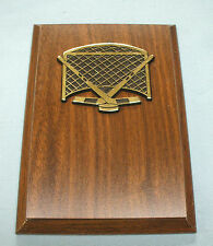 Hockey trophy plaque 5 x 7 net sticks and puck