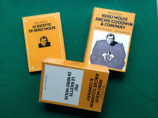Rex STOUT - NERO WOLFE ARCHIE GOODWIN & COMPANY + Ricette , 1° Ed Omnibus (1975)