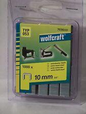 Tacker  Klammern  Typ 53  Wolfcraft  10mm  1000 Stück  für  Bosch  Rapid  Novus