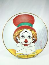 Vintage Porcelain Clown Plate Armstrons 1977 Happy Beauty is but Skin Deep