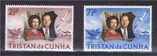 Tristan da Cunha 1972 Silver Wedding SG174/5 MNH
