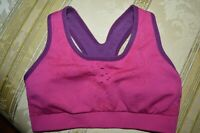 SmartWool ATHLETIC BRA MAGENTA/PURPLE WOOL BLEND WIDE STRAP SZ -XS