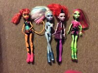 Monster High Doll Lot Abbey Bominable Venus Mcflytrap Operatta Cat Tastrophe EUC
