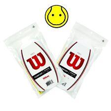 2 x Wilson Pro Overprip Comfort 30 Pack: White - Total 60 Tennis Overgrips