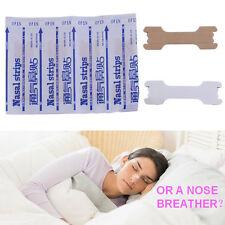 50pcs Great Breathing Nasal Strips Stop Snoring Anti Snoring Strips Patch @#