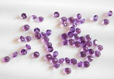12.00 Cts 50 Pcs Natural Amethyst Round Cut Lot Loose Gemstone Round 4 MM H-313