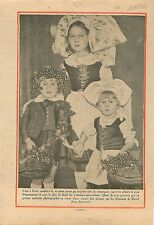 Costumes Enfants d'Alsace Fêtes des Alsaciens de Paris  1932 ILLUSTRATION