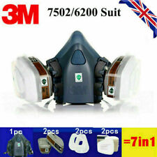 7 in 1 6200/7502 Paint Spray Gas Shield Safety Work Facepiece Respirator Filter