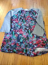 LulaRoe Randy Size Large Dark Body With colorful Floral Design & Grey Arms