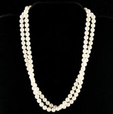 "Mikimoto Sterling Silver Round Akoya Cultured Pearl Necklace 29"" Length 35.2g"