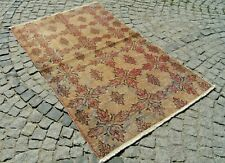Vintage Muted Color Anatolian Low Pile Oushak Wool Rug 50'' X 81'' Area Rug