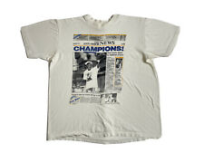 Vintage 80s Glen Rice Newspaper Miami Heat Basketball Champions T-Shirt Men's L
