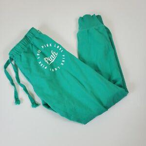 Victorias Secret PINK Pants Sweatpants Joggers Small Green Flipband flaw