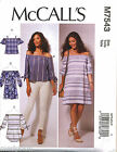 MCCALL'S SEWING PATTERN 7543 MISSES SZ 16-26 OFF/COLD SHOULDER DRESS TOP & TUNIC