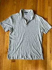 New listing peter millar collection gray striped polo Size Medium Golf Casual Casual Attire