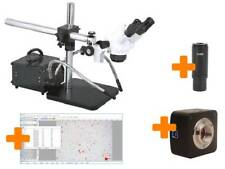 MICROSCOPE STEREO ZOOM LONG REACH, 18MP CAMERA, LIGHTS, SOFTWARE - UK FACTORY
