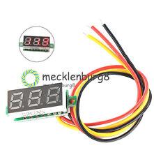 """Red 0.28"""" Three-Wire LED DC 0-100V Voltage Digital Voltmeter Panel Meter"""