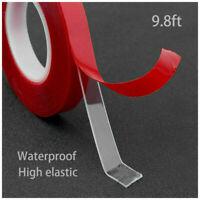 Coche Adhesivo Acrílico Transparente Doble Lados Cinta Resistente Al Agua 300CM