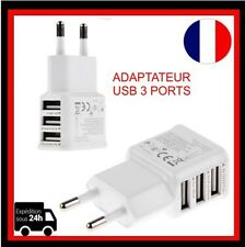 Chargeur Adaptateur 3 Ports USB  Mural Universel Ports Triples/IPhone/IPad etc.