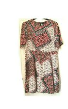 F & F red / multi floral print, fit & flare 1/2 sleeve dress. Size 18. Ex. cond.