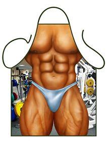 Muscle Man cheeky novelty apron.  Need a body like this? Secret Santa Gift.