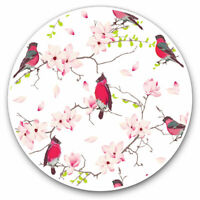 2 x Vinyl Stickers 7.5cm - Red Breasted Bird Cherry Blossom Cool Gift #15745