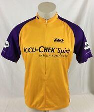 Accu-Check Spirit Yellow & Blue Cycling Short Sleeve Jersey Louis Garneau 2XL