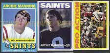 New listing Archie Manning Ole Miss New Orleans Saints 1971 1972 ACEO 3 custom cards + backs