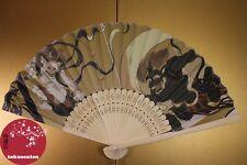 BEL EVENTAIL TRADITIONNEL JAPON FAN UCHIWA SENSU RAIJIN FUJIN KAMI NEW NEUF