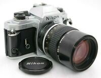 [Near Mint-] NIKON FG SLR Film Camera + AI NIKKOR 135mm F/2.8 From Japan