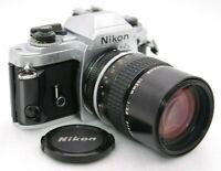 [Near Mint-] NIKON FG SLR Film Camera + AI NIKKOR 135mm F/2.8 From Japan