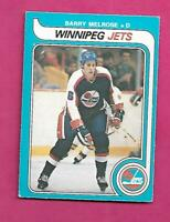 1979-80 OPC  # 386 JETS BARRY MELROSE  ROOKIE EX-MT CARD (INV# C5769)