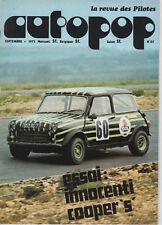 AUTOPOP 25 1973 ESSAI INNOCENTI MINI COOPER 1300 MAGNY COURS RONDE CEVENOLE