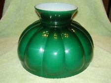 "10"" GLASS SHADE ALADDIN BRAND GREEN  MELON alladin fits old oil /electric lamp"