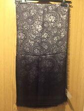 VERSACE Iconic Medusa Silk & Wool Blend Grey Scarf RRP £440