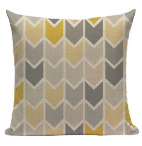 Yellow Pattern YG8 Cushion Pillow Cover European Design Stylish Modern Geometric