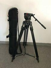 Manfrotto 350MVB Professional Tripod (Black) and 516 Pro Fluid Video Head