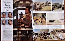 U.S. Desert War,  Bomber Crew and Equipment,  WWII  Post Magazine Photo Article