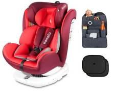 Grau Lionelo Luuk Fix Kindersitz Isofix Sitzerh/öhung Auto Kinder 22 bis 36 kg Armlehnen Gurtfix atmungsaktives Material profilierte Form Doppelsitz-Polsterung