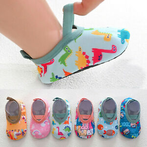 Baby Kids Boys Girls Cartoon The Floor Socks Barefoot Aqua Socks Slip-On Shoes